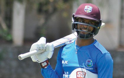 West Indies and Barbados batting star Shai Hope.