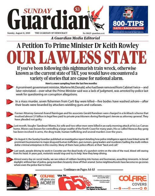 OUR LAWLESS STATE - Trinidad Guardian